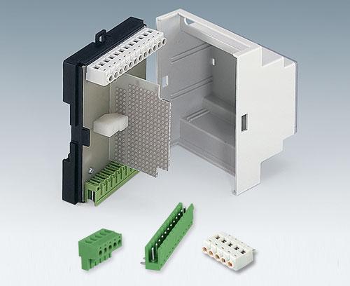 Bornes à circuit imprimé et réglette à broches