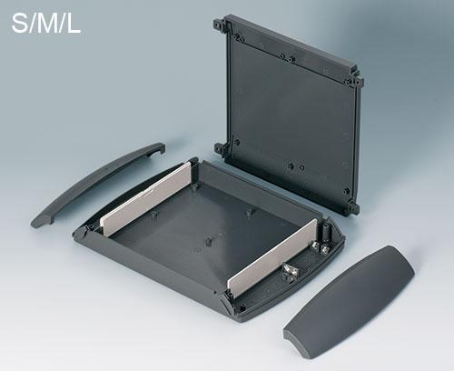 DIATEC M avec plaques enfichables pour délimiter la partie électronique et je de contact pour piles (accessoires S, M, L)