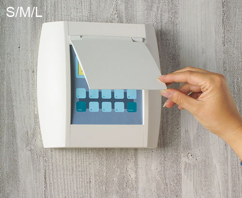 Couvercles optionnels, dans la couleur du boitier (accessoires S, M, L)