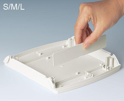 Plaques enfichables pour délimiter la partie électronique (accessoires S, M, L)
