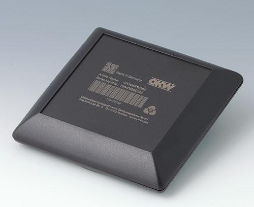 ART-CASE en ABS (UL 94 HB), noir avec inscription laser