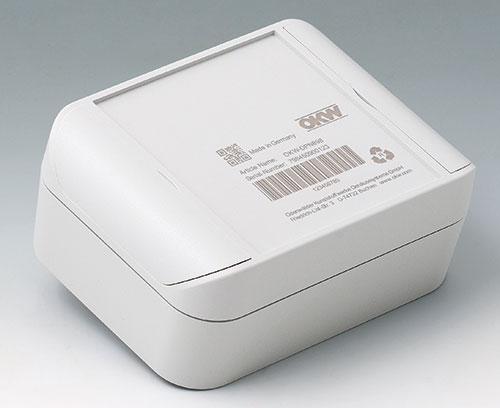 SMART-BOX en ASA+PC-FR (UL 94 V-0), gris clair avec inscription laser