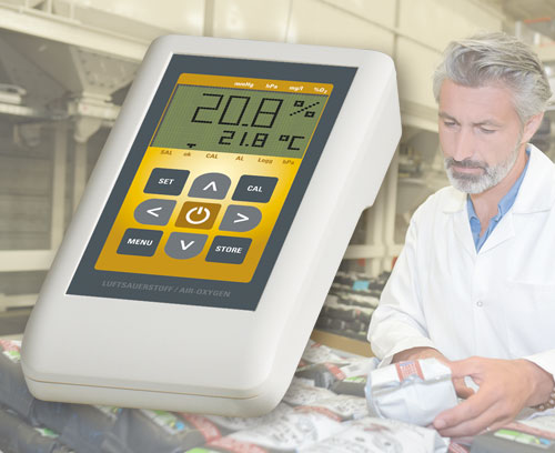 Instrument de mesure de l'oxygène de l'air