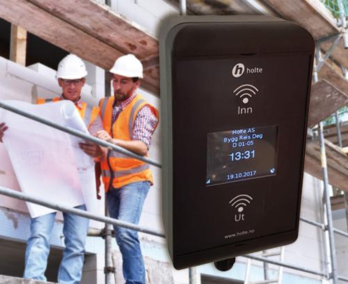 Lecteur de cartes RFID pour les collaborateurs sur chantiers