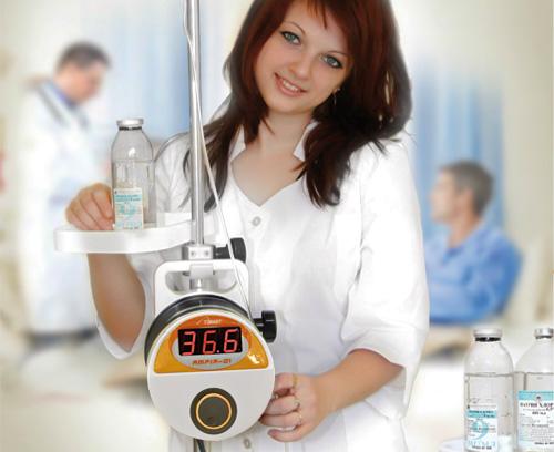 Réchauffeur de sang, de substituts sanguins et solutions de perfusion