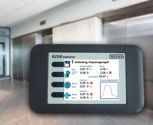 Multimètre RIDEwatcher pour guides d'ascenseur