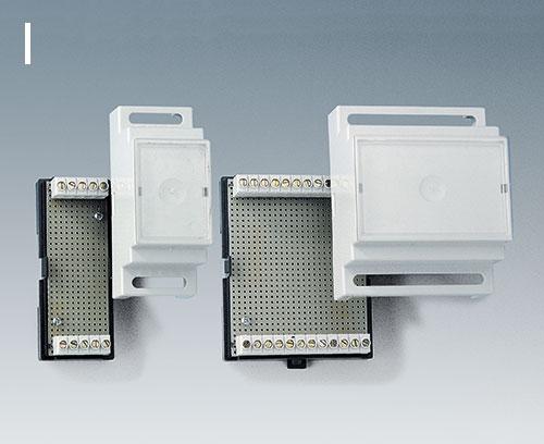 Version I : pour borniers à circuits imprimés, grille 5,0/5,08