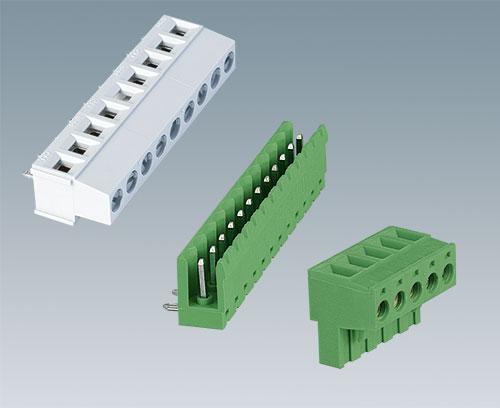 Bornes à circuits imprimé et réglette à broches (accessoires)