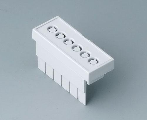 B6801112 Couvre-bornes, avec perforations, 5,08