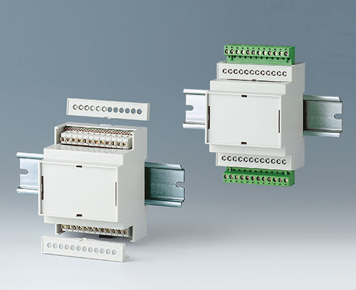 RAILTEC C avec borniers à circuits imprimés et réglettes à broches