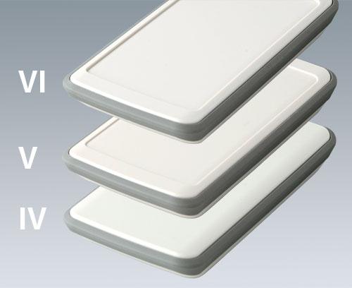 SLIM-CASE avec bague intermédiair en TPE vers. IV, V et VI (plane, 1 mm en retrait, 1,6 mm en retrait)