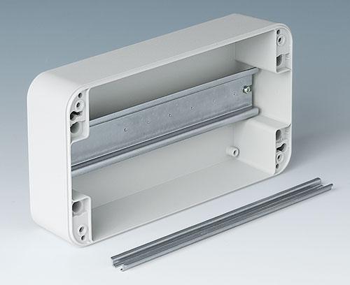 Des bossages de fixation intégrés pour barrettes DIN