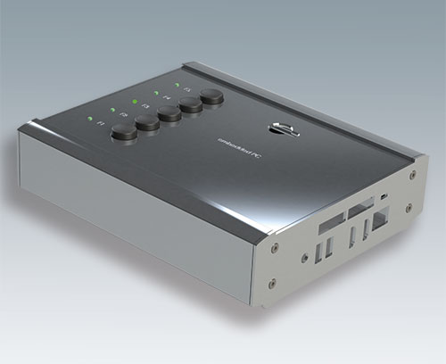 Plaques aluminium simples pour fermeture latérale, voir composants systèmes pour boitiers personnalisés