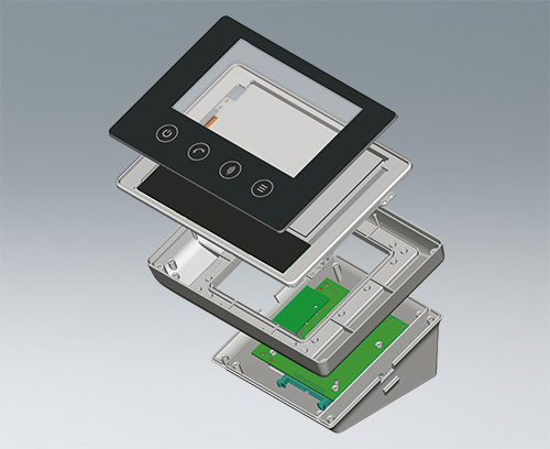 boitier avec un système écran tactiles