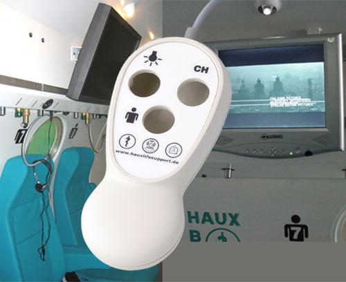Télécommande HAUX pour le divertissement de patients