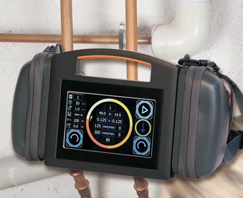 Télécommande radio mobile pour système de soudage orbital