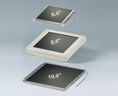 "Compatível com touch screens 6,4"" (16 cm) - 8,4"" (21 cm) - 10,4"" (26 cm)"