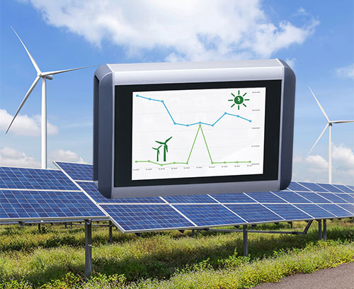 Smart meter for wind power and solar systems