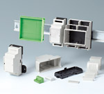 DIN rail enclosures and PCB chassis