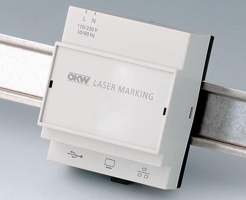 Светло-серый корпус RAILTEC B с лазерной гравировкой