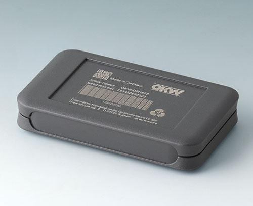 Тёмно-серый корпус SOFT-CASE из АБС (UL 94 HB) с лазерной гравировкой