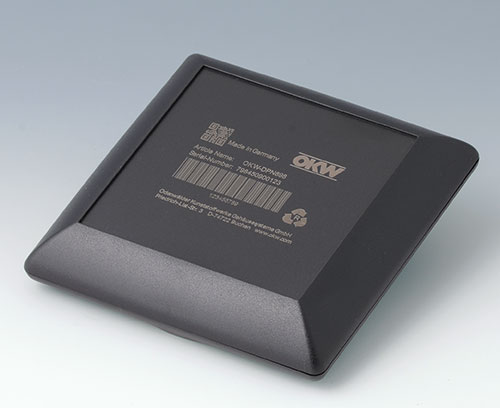 Чёрный корпус ART-CASE из АБС (UL 94 HB) с лазерной гравировкой