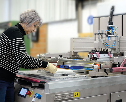 Шелкографическая печать в OKW