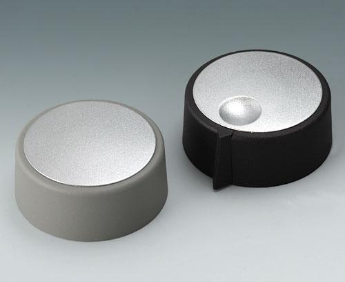 Крышка с матовым хромированным покрытием (для ручек диаметром от 23 до 40 мм)