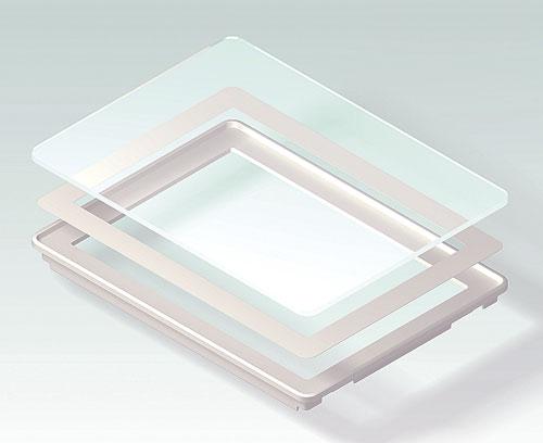 B4146203 Стеклянная лицевая панель L