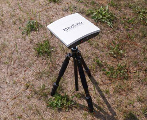 Measuring station for stationary field measurements