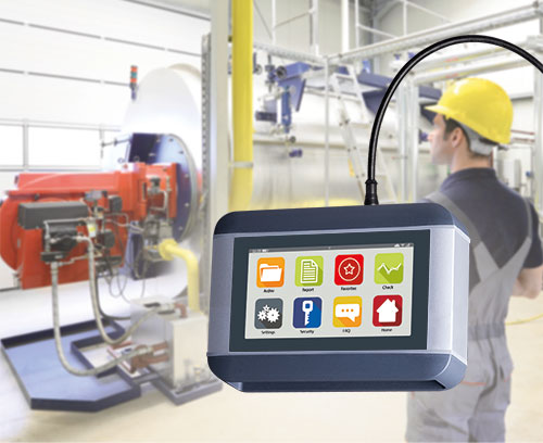 Mobile diagnostic device for machines and plants