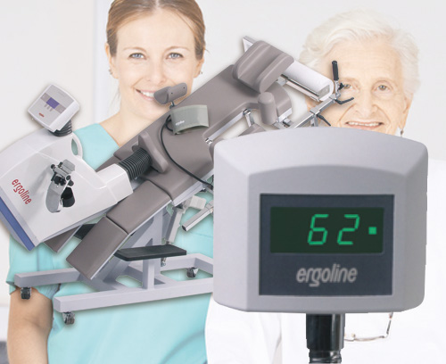 Patient display for recumbent ergometers