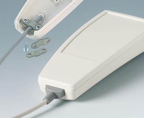 Кабельный ввод с защитой от перегиба; отдельно поставляется прижим для кабеля